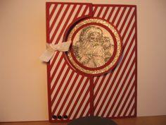 Circle Thinlet card with Santa's List, Special Season & Magical Season single Stamp Sets.  Season of Style DSP