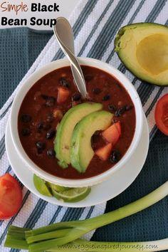 ... black bean soup simple black bean soup this simple black bean soup is