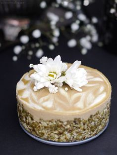 Tahini Orange Blossom Cheesecake (no-bake & free from: nuts, gluten ...