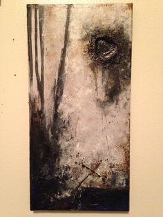 """NATURAL MAN - mixed media on canvas [7"""" x  14""""] Michael Wall"""