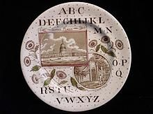 Alphabet Nursery Plate ~ Washington ~ 1880
