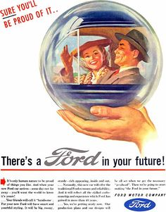 """Ford, """"Sure You'll Be Proud Of It..."""" (1945) Elvgren"""