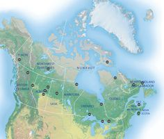 Best places in Canada to see the aurora borealis. Nova Scotia isn't really north enough. will have to plan a trip to Ontario or Quebec sometime. Northern Lights Map, Northern Lights Canada, Quebec, Columbia, Nova Scotia, Ontario, Future Of Science, Canada North, Canada Eh