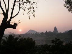 Sunrise in Hampi, India