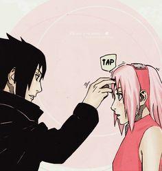 """""""Thank you."""" -Sasuke #sasusaku"""
