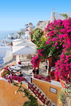 Fototapeta F2243 - Piękna wioska na wyspie Santorini