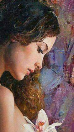 Art Sketches, Art Drawings, Amazing Paintings, Woman Painting, Portrait Art, Aesthetic Art, Figurative Art, Female Art, Art Girl