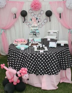 Pink Poodle Birthday Party Ideas | Photo 2 of 13 | Catch My Party