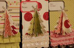Handmade 3D Christmas Tags