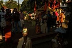 Alex Webb  INDIA. Thripurithuran. 2014. Krishna Jayanti festival, where children dress up to look like Krishna.