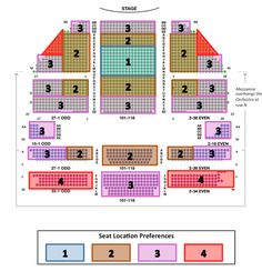 Detailed Seating Chart for The Book of Mormon at Eugene O'Neill ...