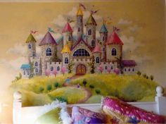 Beautiful wall mural for her room :)