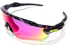 Radar Ev Splatter Pink Prizm Field Cycling Sunglasses, Oakley Sunglasses, Oakley Radar Ev, Eyewear, Bedroom Ideas, Bicycle, How To Wear, Outfits, Shoes