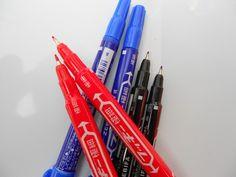 ZEBRA Double-End Marking Pen Small Double-Head Marker Pens 3 Colors