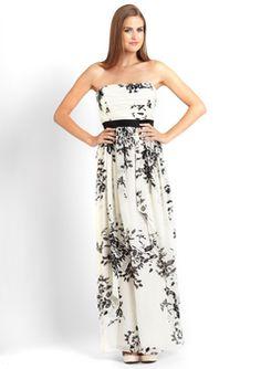Pretty summer dress - love the black and white print.