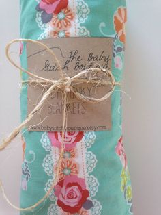 Pink/Aqua Floral Minky Blanket, Ready to Ship! by BabyStitchBoutique on Etsy https://www.etsy.com/listing/226747411/pinkaqua-floral-minky-blanket-ready-to