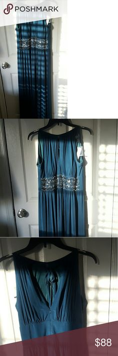 Teal Floor Length Prom Dress Teal Floor Lenght Prom Dress with Beautiful Bending. Price is flexible! RM Richards Dresses Prom