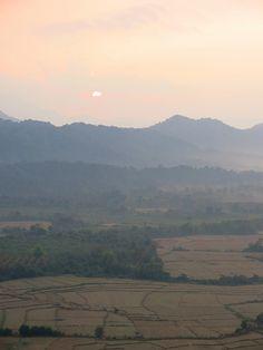 Balloon Ride.  Vang Vieng, Laos