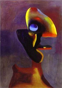 Head of a Man - Joan Miro  1935 .  Surrealism