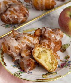 Apple Fritters - Preppy Kitchen Apple Fritter Recipes, Apple Recipes, Sweet Recipes, Baked Apple Fritters, Breakfast Recipes, Snack Recipes, Breakfast Options, Snacks, Still Tasty
