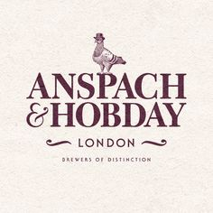 Logo design from an award winning branding project with start up craft beer clients Anspach & Hobday. #design #graphicdesign #type #typography #logo #branding #illustration #craftbeer #beer