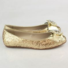 Gold flat shoes for homecoming!!! OMG PERFECTTTT!!!!!!!!