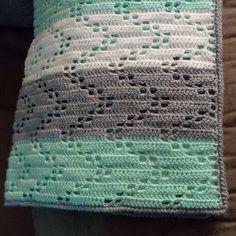 Austere Twist: Zig Zag Crochet Baby Blanket - Free Pattern, #haken, gratis patroon (Engels), baby, deken, kraamcadeau, #haakpatroon