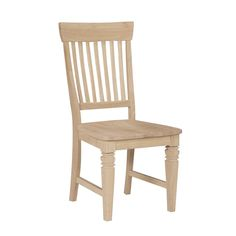 Unfinished Solid Parawood Tall Java Dining Chairs (Set of 2) (Unfinished), Tan (Rubberwood)