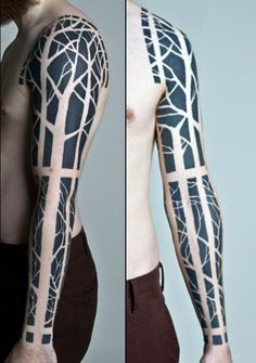 Male Abstract Tribal Tattoo Full Sleeve