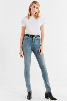 Shop BDG Twig Super High-Rise Skinny Jean – Nashville at Urban Outfitters today. We carry all the latest styles, colors and brands for you to choose from right here. High Rise Black Jeans, Urban Outfitters Women, Diva Fashion, Skin Tight, Skinny Legs, Who What Wear, Stretch Denim, Mom Jeans, Pants For Women