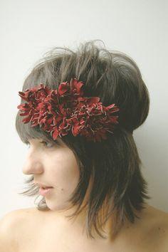 boho leather flower headband