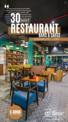 30 Best Restaurant Interior design in India is a collection of amazing Restaurant + Cafes + Bars design around the country, with this E-Book we believe to provide design inspiration to the readers. Also, the e.book is a well-curated design from the most innovative and established design firms. Restaurant Interiors, Restaurant Interior Design, Cafe Interior, Restaurant Bar, Service Counter, Wall Installation, Outdoor Furniture Sets, Outdoor Decor, Cafe Bar