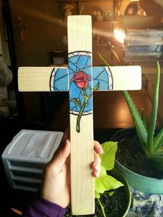 Check out this item in my Etsy shop https://www.etsy.com/listing/489025786/beauty-and-the-beast-inspired-rose-cross