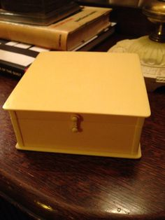 1920s Art Deco celluloid trinket box on Etsy, $8.50 SOLD