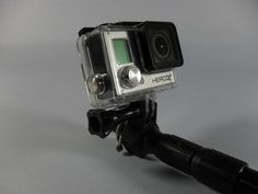 Gopro selfi pole adapter for hiking pole by Labrication http://thingiverse.com/thing:580461