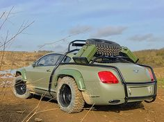 Survive the end of days in style in this apocalypse ready Bentley Continental GT My Dream Car, Dream Cars, Kahn Design, Rich Cars, Bentley Continental Gt Speed, Bentley Car, Car Brands, Mopar, Custom Cars