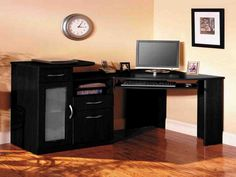 Corner Computer Desk Tower