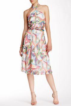 Origami Pineapple Sleeveless Dress by Nicole Miller on @nordstrom_rack