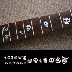 Fret Markers Inlay Sticker Decal Guitar Bass Neck - Skull Masks halloween