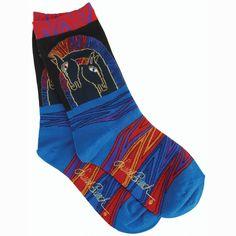Laurel Burch Socks-Loving Horses - Multi