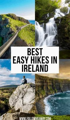Breathtaking landscapes, fresh air, craggy coasts and cliffs, numerous ruins, and more are common when hiking in Ireland. You'll also find Europe's largest green space and the longest defined… Ireland Hiking, Ireland Travel Guide, Dublin Ireland, Ireland Camping, Backpacking Ireland, Cork Ireland, Top Travel Destinations, Places To Travel, Travel Europe