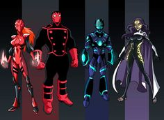 A re-envisioning of members of the original Sentinels.