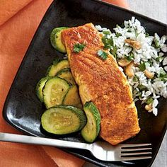 A nice and simple Indian-inspired broiled salmon #recipe for dinner