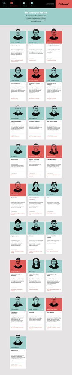 De Correspondent by Momkai , via Behance Ad Design, Layout Design, Graphic Design, Typography Design, Branding Design, Buyer Persona, Design Responsive, Ui Design Inspiration, Web Layout