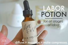 Calming and uplifting DIY essential oil blend for all stages of labor and childbirth. Can be used for massage, diffusing, or making hot/cold compresses.
