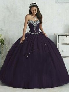 Dark Green Purple Quinceanera Dresses 2019 for 15 Years Puffy Tulle Party Ball Gown Crystals Corset Vestidos De 15 Anos Dark Purple Prom Dresses, Burgundy Quinceanera Dresses, Cheap Quinceanera Dresses, Sweet 16 Dresses, 15 Dresses, Ball Dresses, Ball Gowns, Bridesmaid Dresses, Quince Dresses