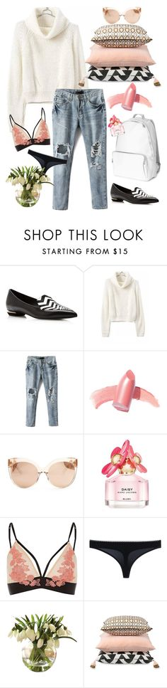"""""""spring look"""" by sonitsa ❤ liked on Polyvore featuring Nicholas Kirkwood, Elizabeth Arden, Linda Farrow, Marc Jacobs and STELLA McCARTNEY"""