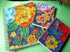 CAFÔFU - ATELIÊ DE ARTE: TENDENCIA - BORDADO EM CHITA Crewel Embroidery, Embroidery Designs, Costura Diy, Handmade Home, Book Making, Bookbinding, Creative Cards, Fabric Art, Printing On Fabric