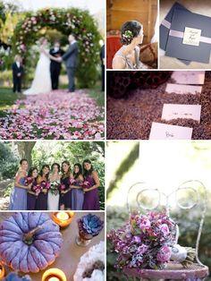 Violet wedding inspiration. Lovely.