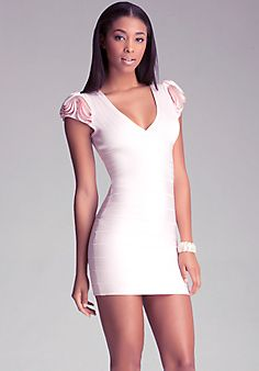 Zip Detail Bandage Dress --awesome party dress!